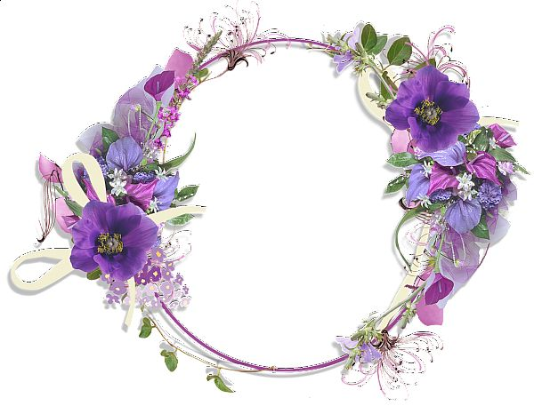 Floral clipart round flower frame Best Gallery on Frames and