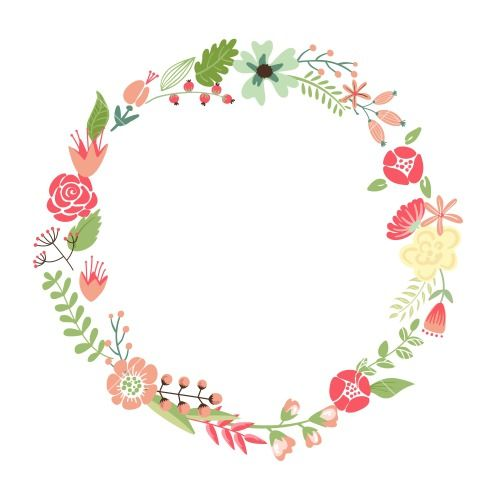 Floral clipart round flower frame Clipart The Arranged 25+ Un
