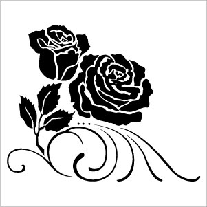 White Rose clipart silhouette ClipArt to pic see Images