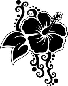 Pisces clipart hawaiian art Clipart Silhouette of Flower A