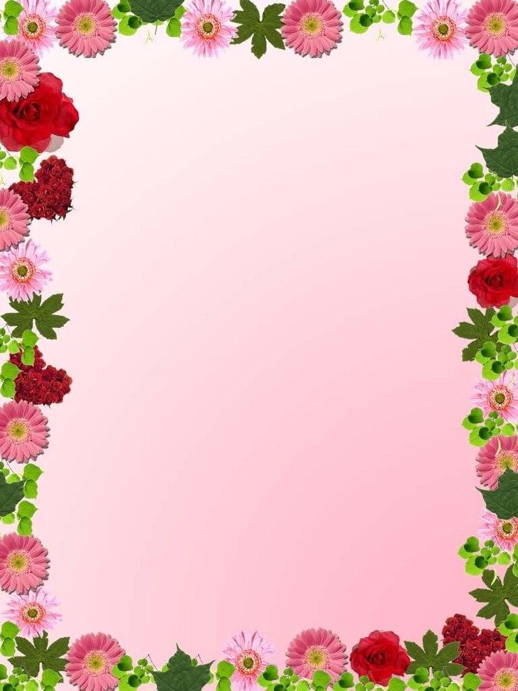 Pink Flower clipart flower boarder Art Clip Frame Free Clip