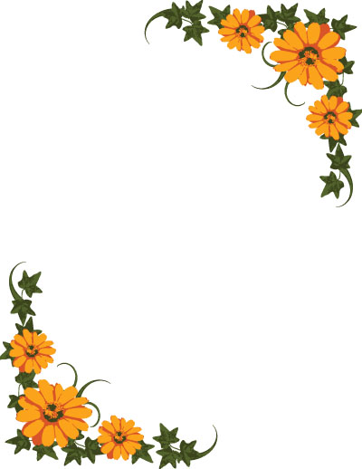 Cover clipart frame Designs Clip Floral Page Flower