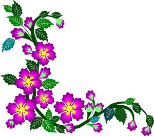 Simple clipart floral design #9