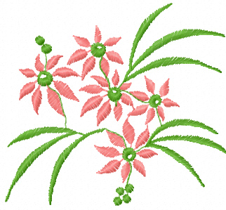 Floral clipart small flower Embroidery embroidery design výšivky machine
