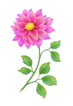 Floral clipart small flower Art  vintage Pink antique