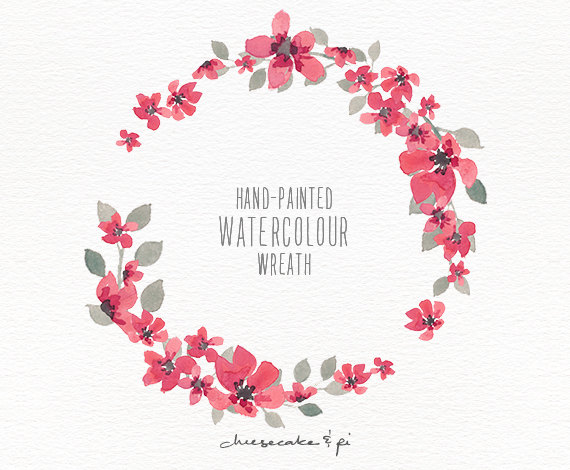 Floral clipart small flower PNG watercolor watercolor small flowers