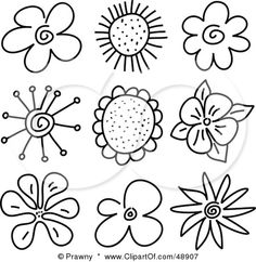 Floral clipart small flower For Stock SketchesDrawing FlowersArt FloralFlower