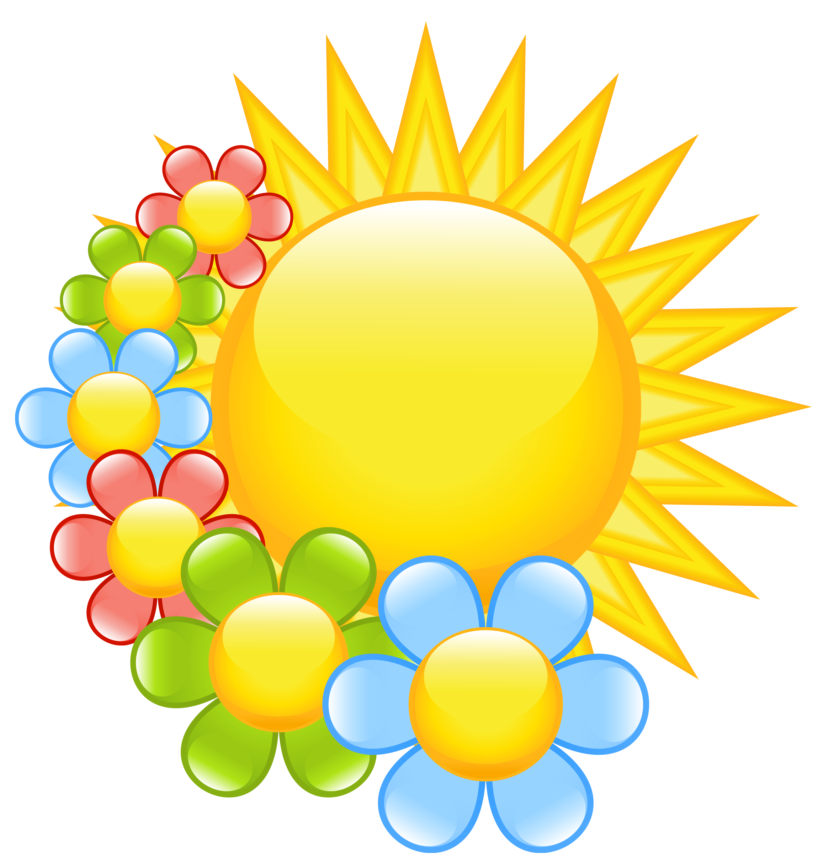Yellow Flower clipart sunshine Spring gallery image flower art