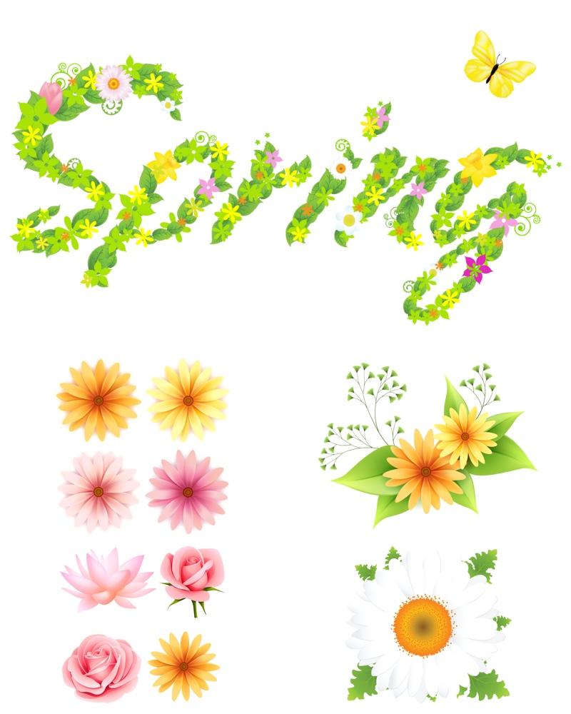 Vector clipart spring #12