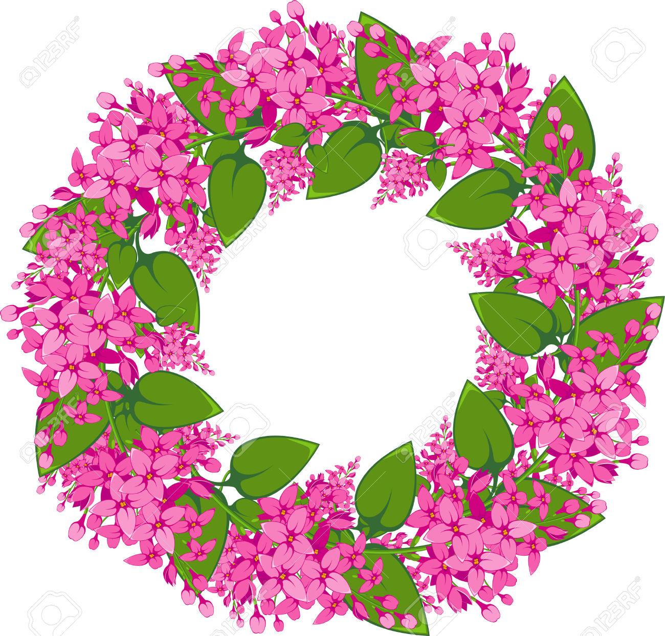 Wreath clipart spring wreath Clipart clipart wreath background flower