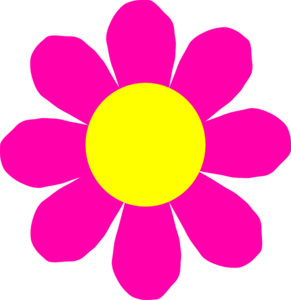 Pink clipart yellow flower Panda Flower Clipart Free Clipart