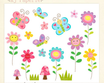 Tulip clipart butterfly #6