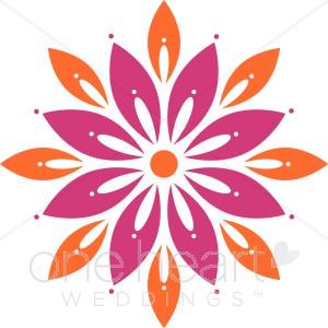 Orange Flower clipart bright flower Clipart Clipart clipart For Bright