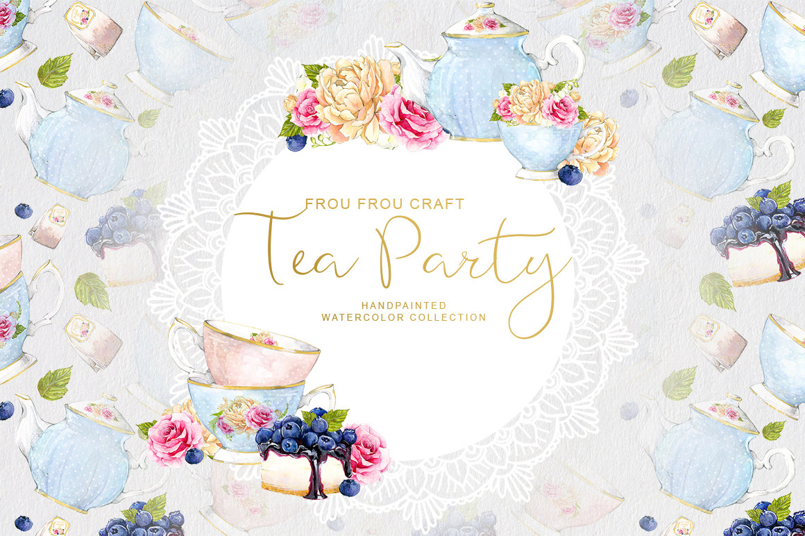 Tea Party clipart 50's #1