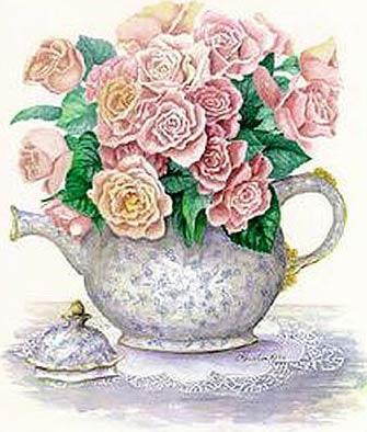 Floral clipart teapot Clip Clip Vintage Clip Vintage