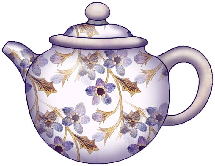 Floral clipart teapot Teapot Clip Vintage roses of