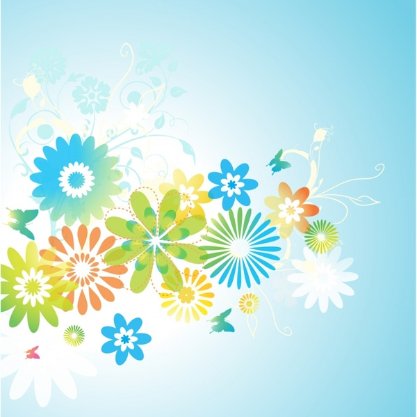 Floral clipart transparent background Flower and clipart vector (48