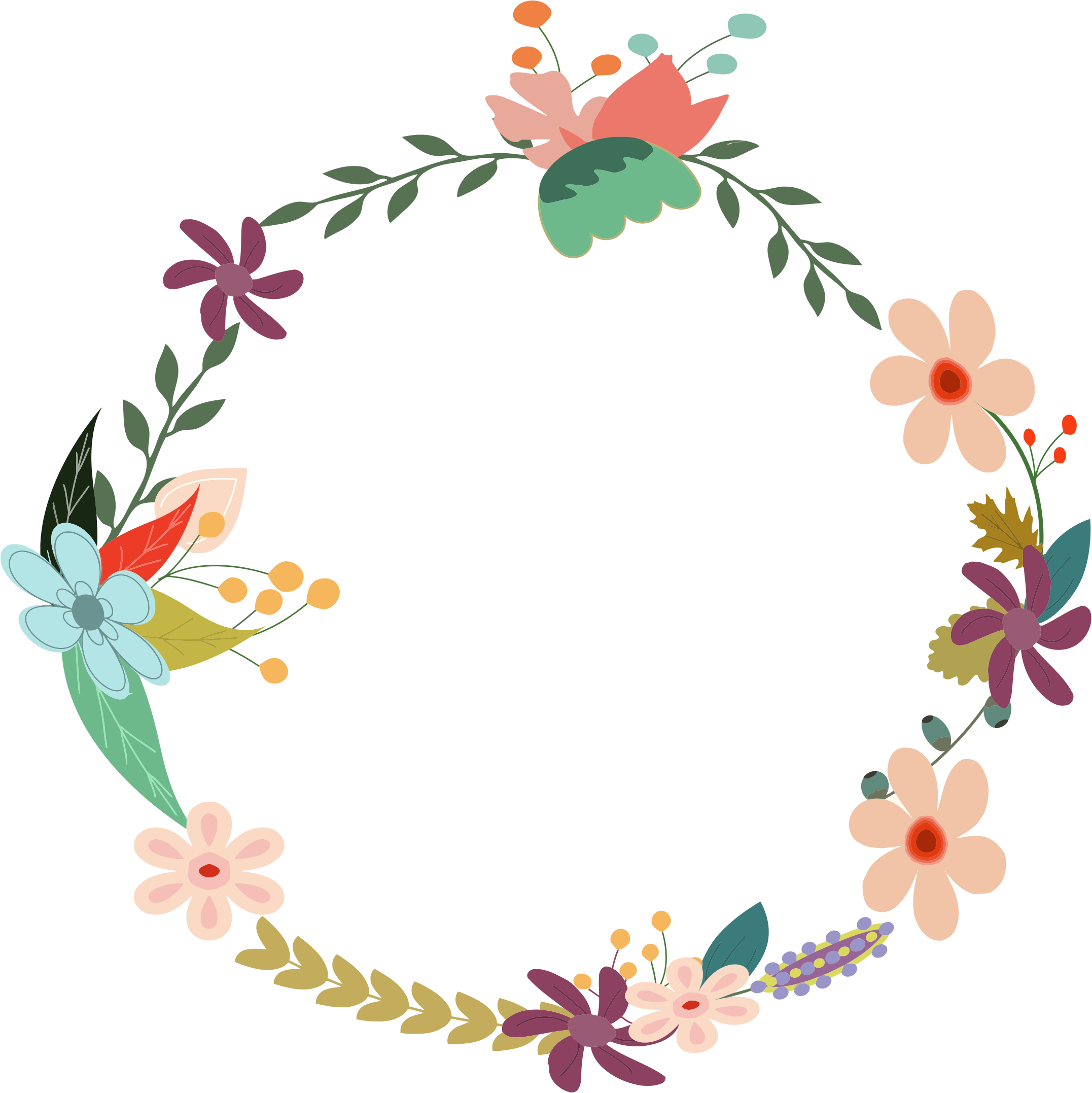 Floral clipart transparent background Transparent wreath Floral Clip Free