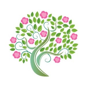 Floral clipart tree Clipart Art Pink 003 003