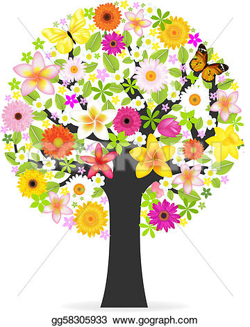 Floral clipart tree Gg58305933  Stock tree gg58305933