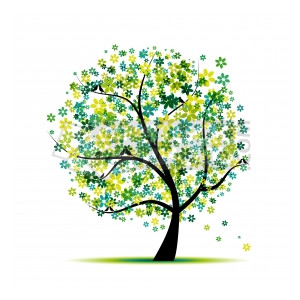Floral clipart tree Clipart Floral Spring Spring for