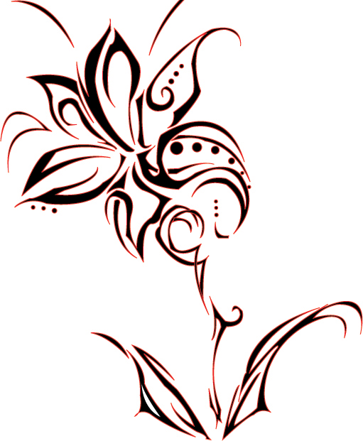 Floral clipart tribal Library Download Clipart Free Art