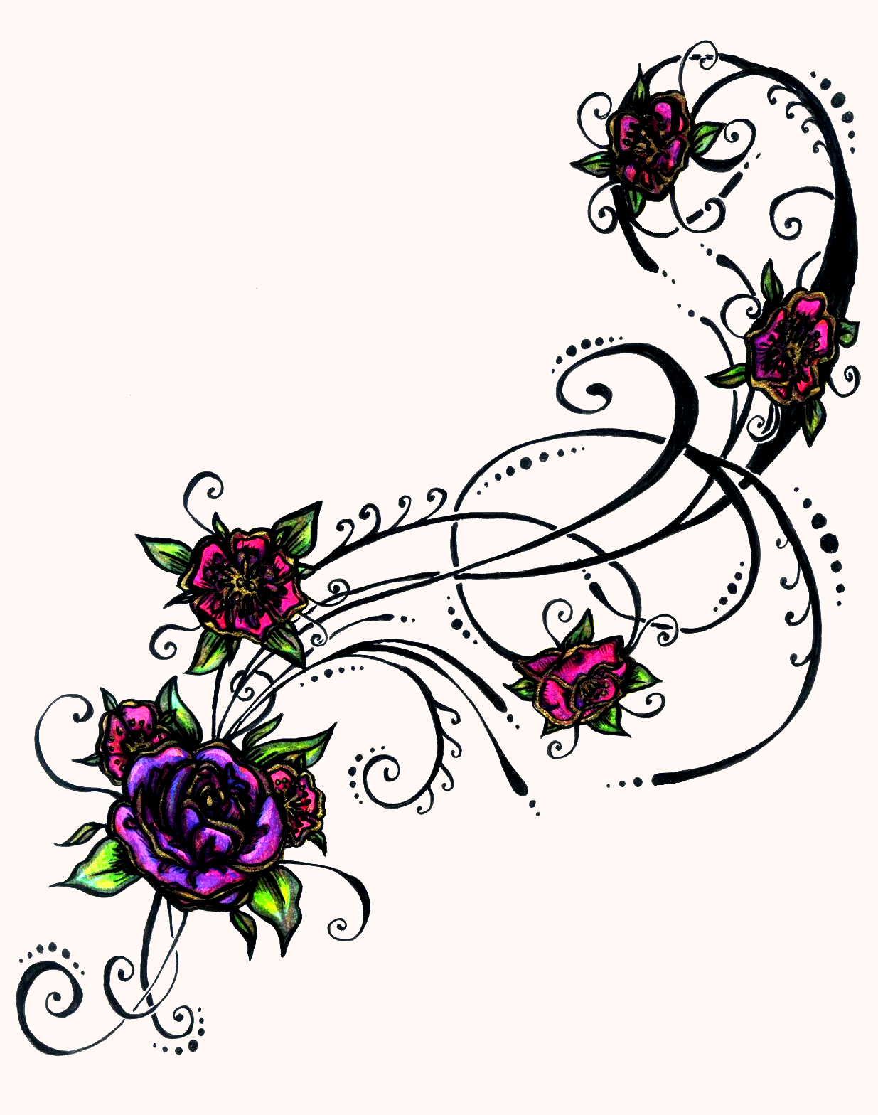 Floral clipart tribal Library Designs Clipart Tattoo Free