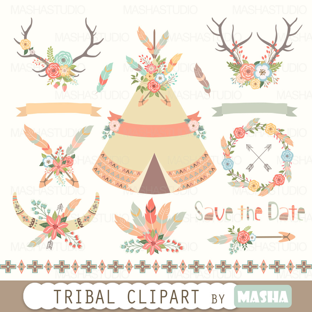Indian clipart tribal Feather