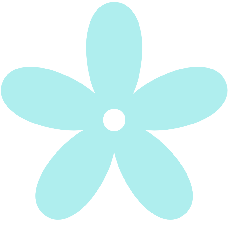 Turquoise clipart turquoise flower #2