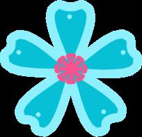 Pink Flower clipart blue flower Clip Pink Flower and Blue