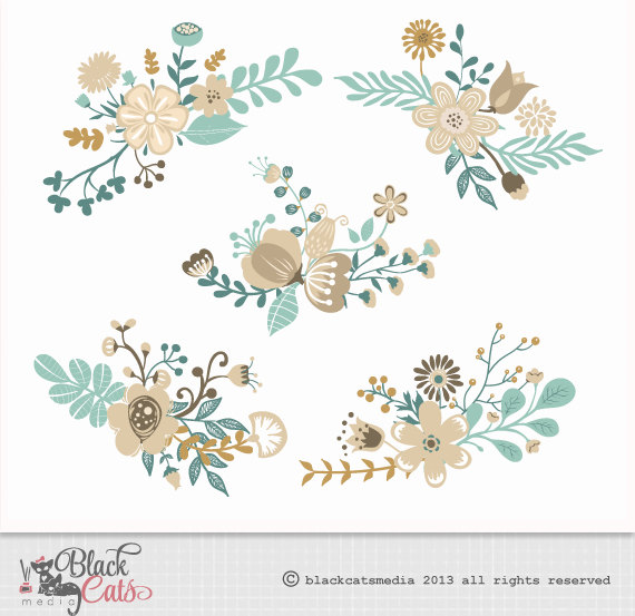 Turquoise clipart turquoise flower #11