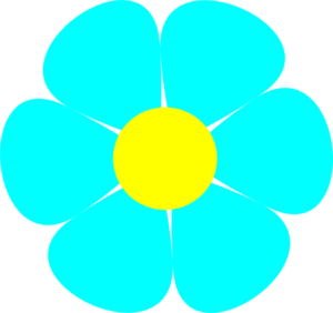 Turquoise clipart turquoise flower #1