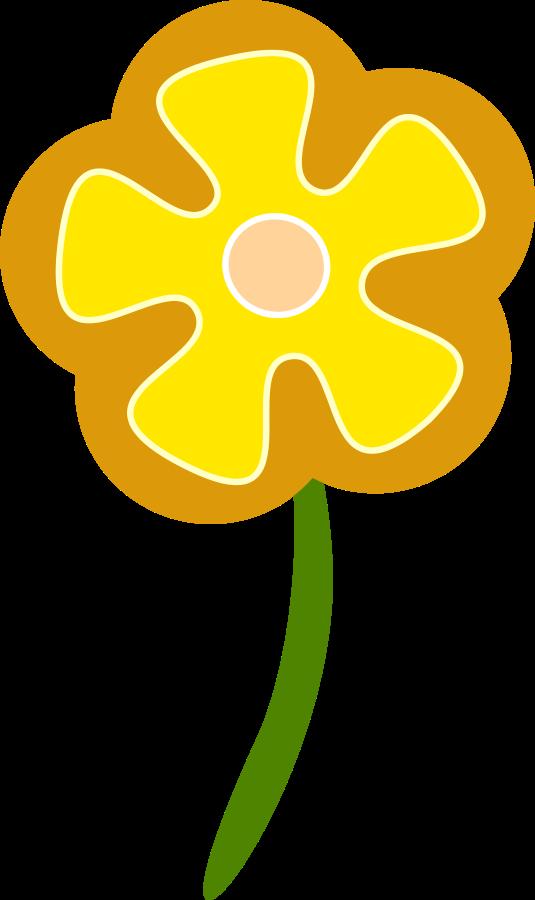 Yellow Flower clipart big flower  Hibiscus Becuo Free Flower