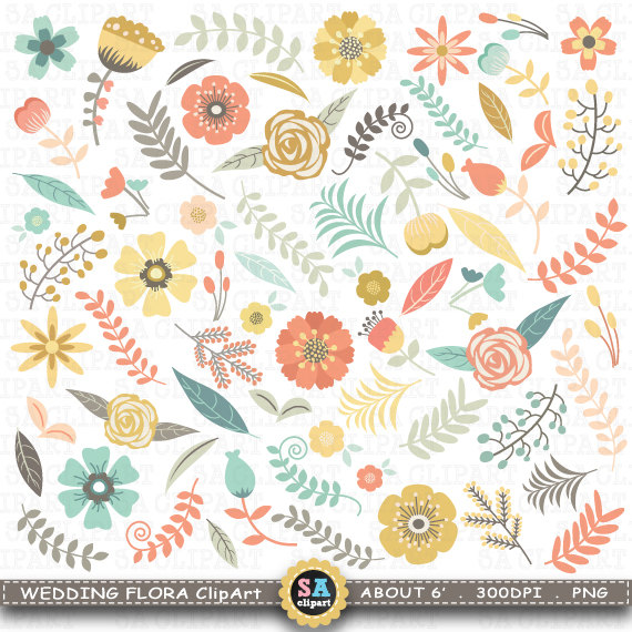 Floral clipart vintage flower Floral flowers art II