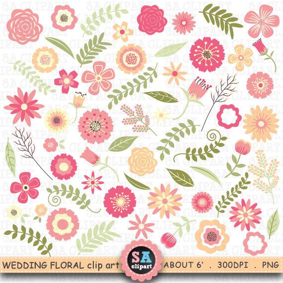 Floral clipart vintage flower Floral flowers art clip Vintage