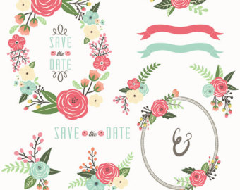 Floral clipart wedding