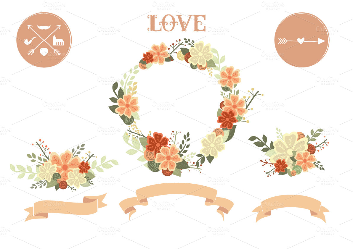 Floral clipart wedding Wedding Floral Wedding Clipart information