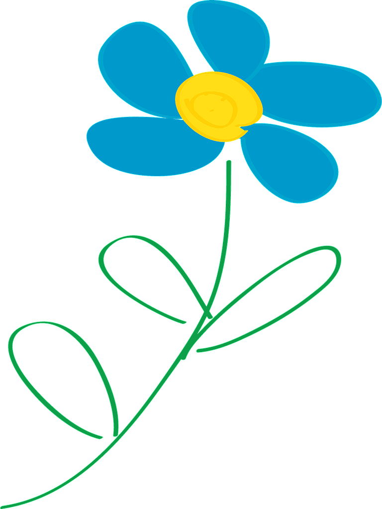 Floral clipart whimsical Clip to blue Free Find