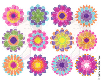 Floral clipart whimsical Clip Art Graphics Art Files