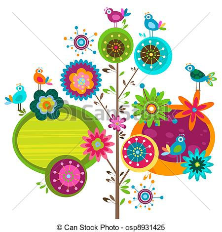 Floral clipart whimsical Birds whimsy whimsy tree flower