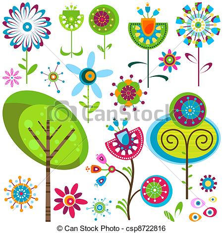 Floral clipart whimsical Art Flowers Whimsy Art Whimsy