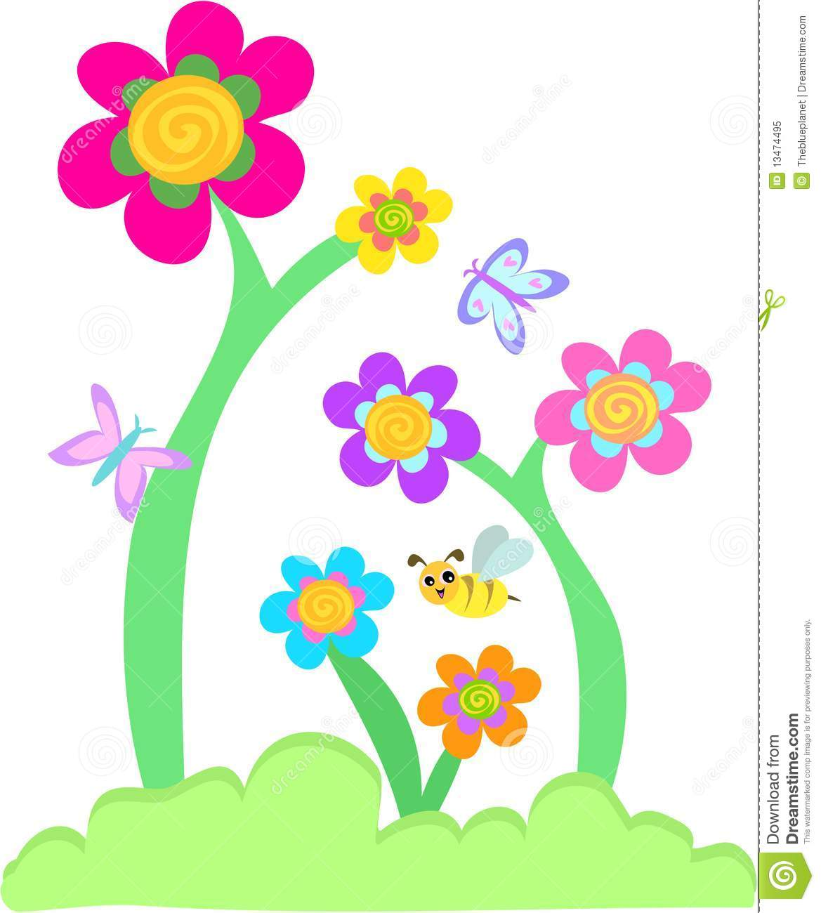 Floral clipart whimsical Garden and collection clipart the