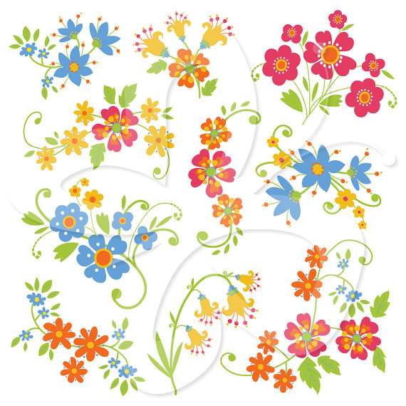 Floral clipart whimsical Whimsical Flowers Download Whimsical Flowers