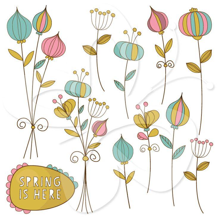 Floral clipart whimsical Clip art Art clip clipart