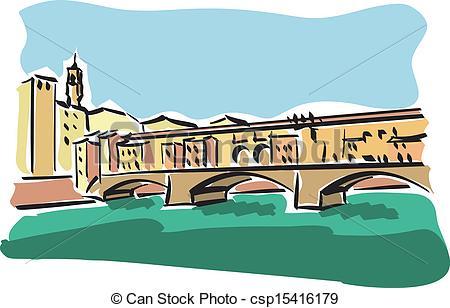 Florence clipart Illustration csp15416179 (Ponte Vecchio) Florence
