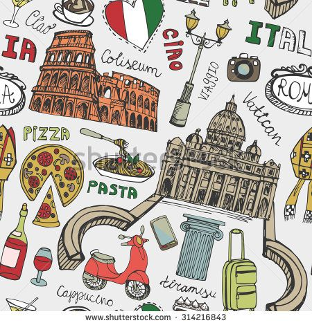 Colosseum clipart italian food  Italy on 25+ Pinterest