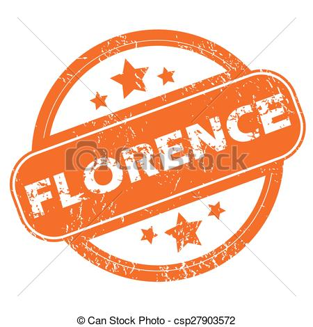 Florence clipart stamp Florence of rubber and rubber