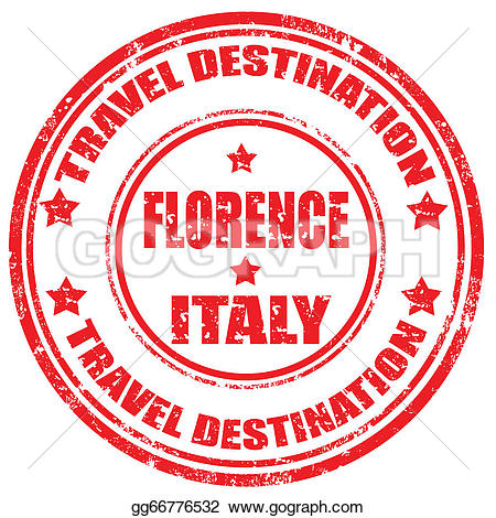 Florence clipart stamp Text gg66776532 Vector GoGraph florence