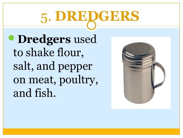 Flour clipart dredger Kitchen list DREDGERS needs utensils