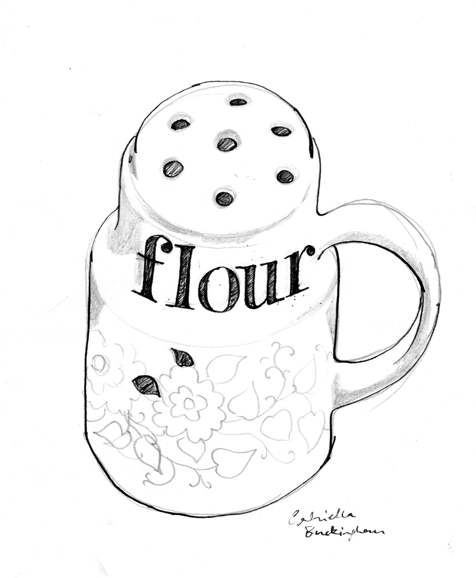 Flour clipart dredger Toonpeps coloring printable bag Children